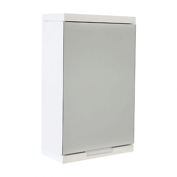 Vienna white single door mirror cabinet
